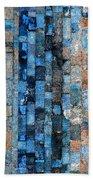 Bronze Blue Wall Bath Towel