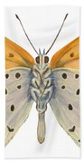 Bronze Copper Butterfly Hand Towel
