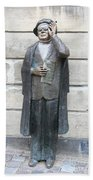 Bronze Statue Stockholm - Evert Taube Bath Towel