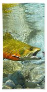 Brook Trout And Silver Doctor Bath Towel