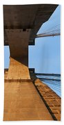 Brooklyn Bridge Abstract Bath Towel