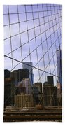 Brooklyn Bridge View Bath Towel