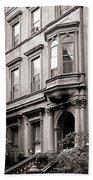 Brooklyn Heights -  N Y C - Classic Building And Bike Bath Towel