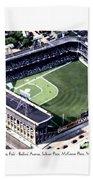 Brooklyn - New York - Flatbush - Ebbets Field - 1940 Bath Towel