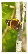 Brown Butterfly 2 Bath Towel
