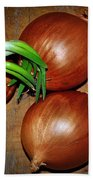 Brown Onions Bath Towel
