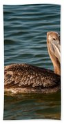 Brown Pelican Bath Towel