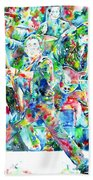 Bruce Springsteen And The E Street Band - Watercolor Portrait Bath Towel
