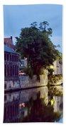 Brudges Canal Bridge Bath Towel