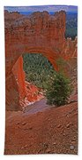Bryce Canyon Natural Bridge And Tree Bath Towel