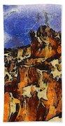 Bryce Canyon Thuderstorm Bath Towel