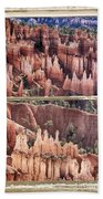 Bryce Canyon Utah View Through A White Rustic Window Frame Hand Towel