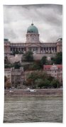 Buda Castle Facade Bath Towel