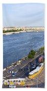 Budapest Street Traffic In Hungary Bath Towel