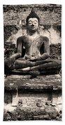 Buddha In Meditation Statue Bath Towel
