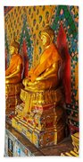 Buddhas At Wat Arun, Bangkok Bath Towel