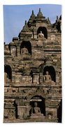 Buddhas Of Borobudur Bath Towel