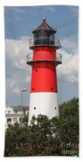 Buesum Lighthouse - North Sea - Germany Bath Towel