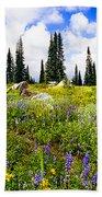 Buffalo Pass Colorado Wildflowers Bath Towel