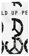 Build Up Peace Ll Hand Towel