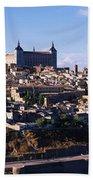 Buildings In A City, Toledo, Toledo Bath Towel