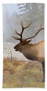 Bull Elk Bugles Loves In The Air Bath Towel