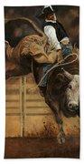 Bull Riding 1 Bath Towel