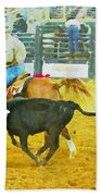 Bulldoggin Cowboys Bath Towel