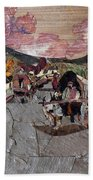 Bullock Cart On Bridge Bath Towel