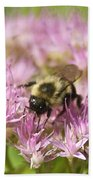 Bumble Bee On A Century Plant Bath Towel