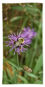 Bumblebee On Flower Bath Towel