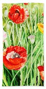 Bunch Of Poppies II Bath Towel