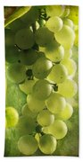 Bunch Of Yellow Grapes Bath Towel