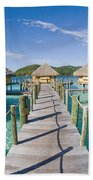 Bungalows Over Ocean Bath Towel