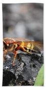 Burn Pile Bee Bath Towel