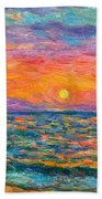 Burning Shore Bath Towel