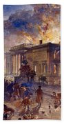 Burning Temple Of The Winds, 1856 Bath Towel