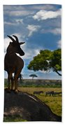 Bushbuck Guard Of The Mound   Bath Towel