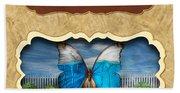 Butterflies Button Bath Towel