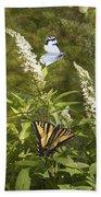 Butterflies In Golden Garden Bath Towel