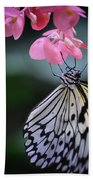 Butterfly And Blossoms Bath Towel