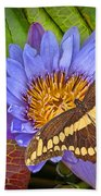Butterfly And Lily Bath Towel