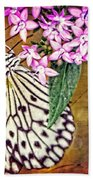 Butterfly Art - Hanging On - By Sharon Cummings Bath Towel