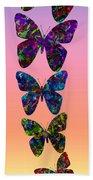 Butterfly Collage IIII Bath Towel