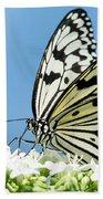 Butterfly On Blue Bath Towel