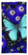 Butterfly On Cineraria Bath Towel