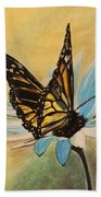 Butterfly On Flower Bath Towel
