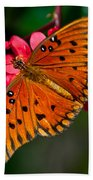 Butterfly On Flower Bath Towel