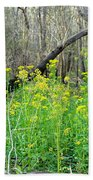 Butterweed Florida Wildflower Bath Towel