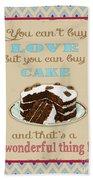 Buy Cake Typography Bath Towel